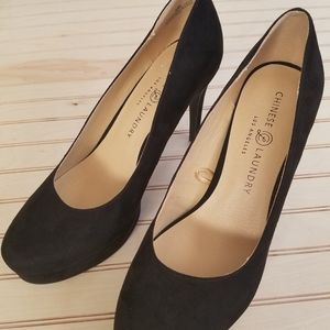 "Black ""Suede"" Heels"